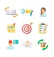 Feedback web icons set vector