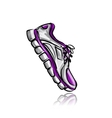 Sport sneakers sketch for your design vector