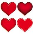 Set of 4 valentine heart vector