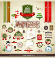 Merry christmas design elements vector