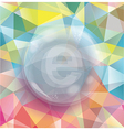 Glass bubble on abstract geometric 3d background vector