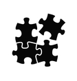 Puzzles icon vector