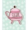 Sugar porcelain design vector