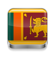 Metal icon of sri lanka vector