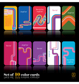 Set of ten abstract cards vector