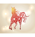 Multicolor chinese new year of horse 2014 vector