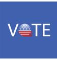 United states election vote button vector