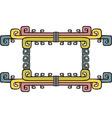 Native american aztec ornate frame vector