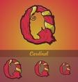 Halloween decorative alphabet - q letter vector