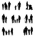 Family walking vector
