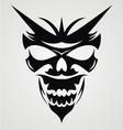 Black devil mask vector