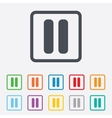 Pause sign icon player navigation button vector