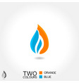 business emblem drop water flame icon blue vector