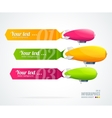 Modern glossy infographics options arrow banner vector