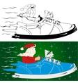Santa claus is coming vector