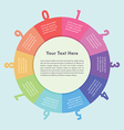 Colorful circle infographic background design vector