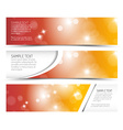 Set of hot summer horizontal banners vector