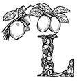 Lemon letter l vector