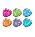 Set of drawing finance stickers icon vector
