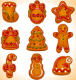 Christmas cookie set vector