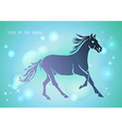 Chinese new year of horse 2014 blue background vector