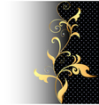 Background with ornaments of gold vector