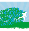 Jogging - abstract silhouettes card vector