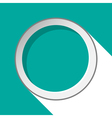 Turquoise circle with stylized shadow vector