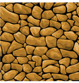 Seamless brown stone background vector