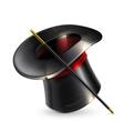 Magic cylinder hat vector