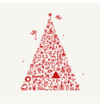 Christmas tree sketch for your design vector