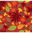 Seamless autumn leaves background thanksgiv vector