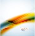 Flowing wave of blending colors vector