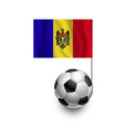 Soccer balls or footballs with flag of moldova vector