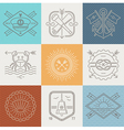 Adventures nautical and travel emblems and signs vector