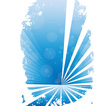 Blue grunge banner with white background vector
