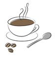 Coffee cup spoon vector