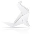 Origami paper sea calf vector