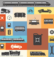 Vintage and modern vehicle silhouettes vector
