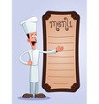 Cheff offering menu vector
