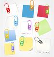 Color paper sheets vector
