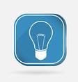 Incandescent lamp color square icon vector