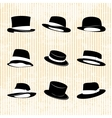Collection of vintage hats vector