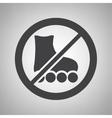 Do not ride icon vector