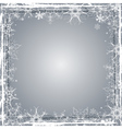 Silver grunge christmas background vector