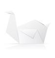 Origami paper swan vector