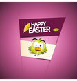 Happy easter pink - violet background with funny vector