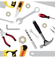 Hand tools background vector