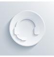Modern headphones light circle icon vector