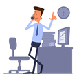Businessman standing and talking on the phone vector